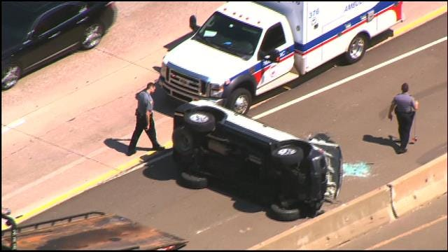 At Least One Injured In Rollover Accident In NW OKC
