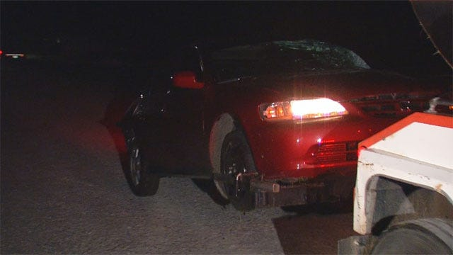 High-Speed Chase In OKC Ends When Car Hits Mobile Home