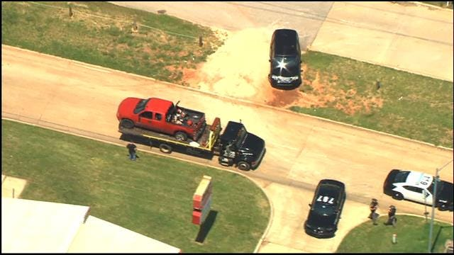 Police Pursuit Ends With Crash In SE OKC