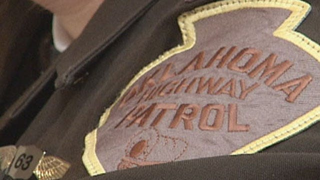 4 Injured After Car Hits Crash Attenuator In Wagoner County