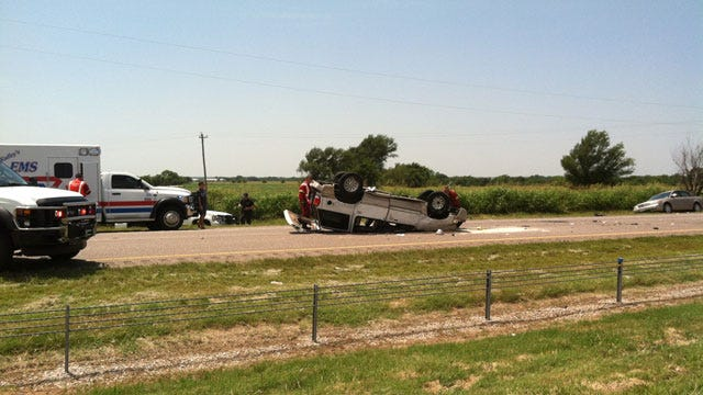Rollover Accident Snarls Traffic On I-35, South Of Norman