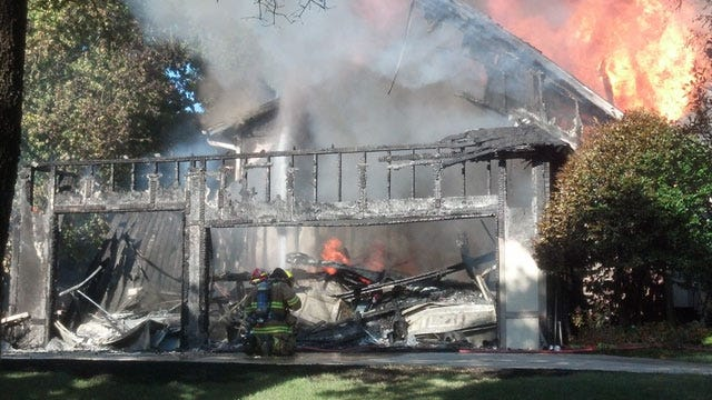 Crews Battle House Fire In Midwest City