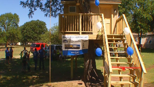 'Make A Wish' Builds Dream Tree House For Sick Wynnewood Boy
