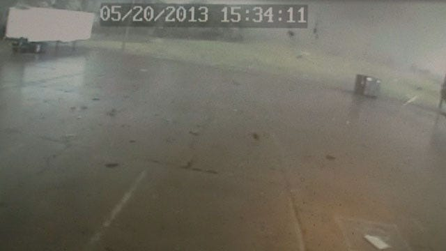 Surveillance Footage Captures Moore Tornado