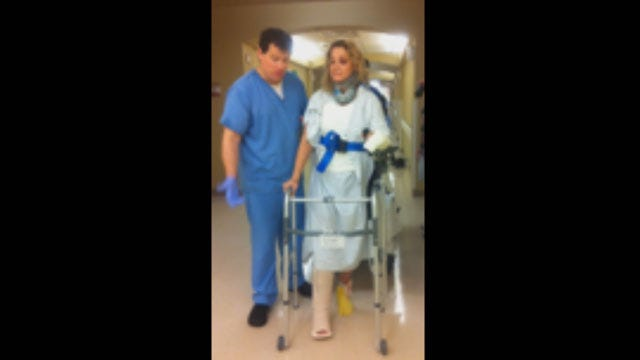 Injured In Car Wreck, OKC Woman Hopes To Track Down Hero