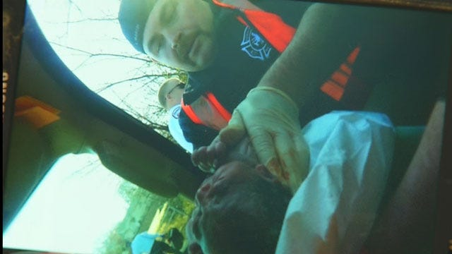 Traffic Stop Turns Into Police Escort, Baby Delivery In Edmond