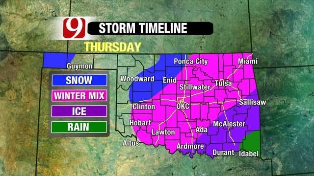Winter Storm Takes Aim At Oklahoma