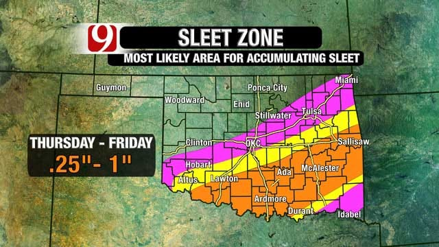 Winter Storm Warning In Effect For Large Portion Of Oklahoma