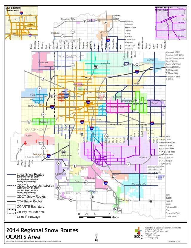 Oklahoma Snow Routes