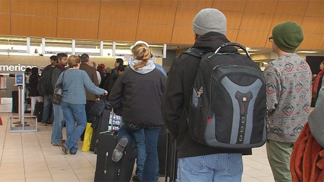 Oklahoma Travelers Stranded Due To Winter Storm In Dallas