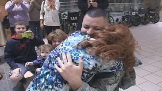 Returning Tinker Airman Proposes To Girlfriend