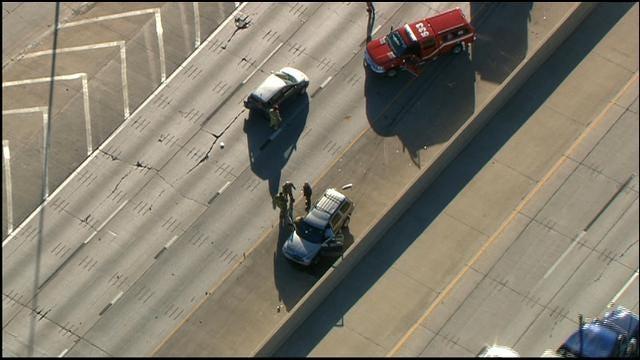 Two-Vehicle Accident Backs Up Traffic On EB I-40, At Portland