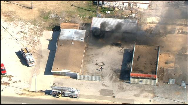 Firefighters Put Out Fire At Recycling Center In South OKC