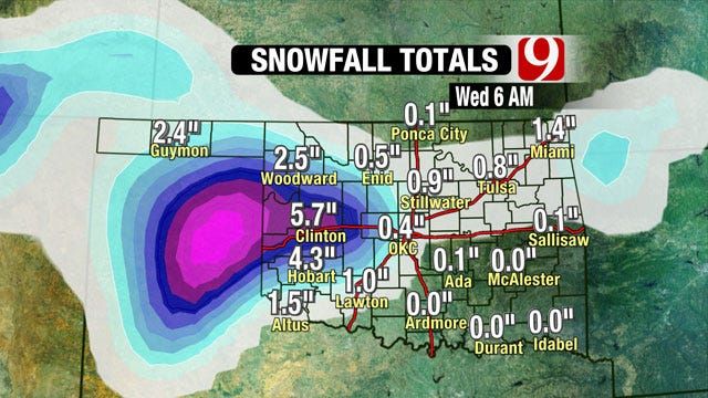 Powerful Storm Will Dump Snow On Parts Of Oklahoma