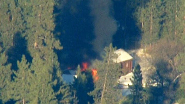 LAPD: No Body Found Yet From Burned Cabin In California