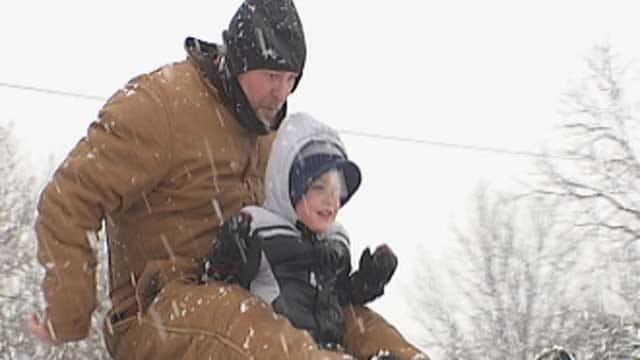 Oklahomans Having Fun In The Snow On Tuesday