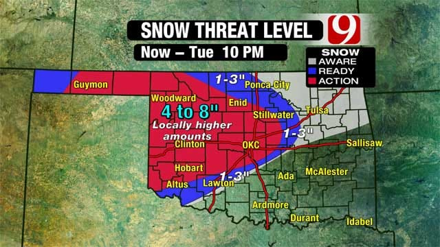 Winter Storm Dumps As Much As 8 Inches Of Snow In Oklahoma