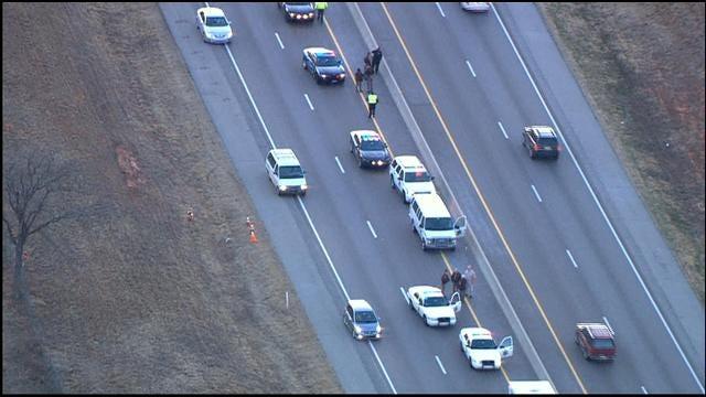 Crash Involving Prisoner Transport Van Causes Snarl On EB I-44