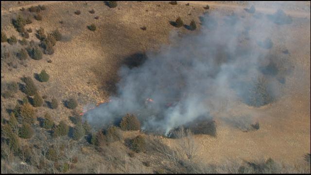 Crews Battle Small Grass Fire Southwest Of Guthrie