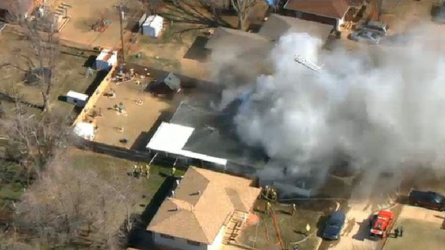 Crews Extinguish House Fire In Midwest City