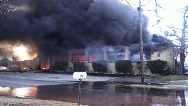 Flames Destroy Church In Duncan