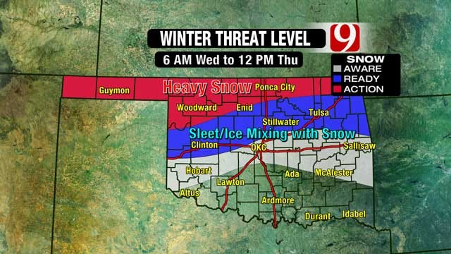 News 9 Weather Team Updates On Winter Weather In Oklahoma
