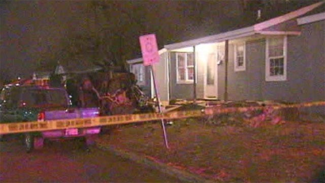Driver Crashes, Hits Porch In Midwest City