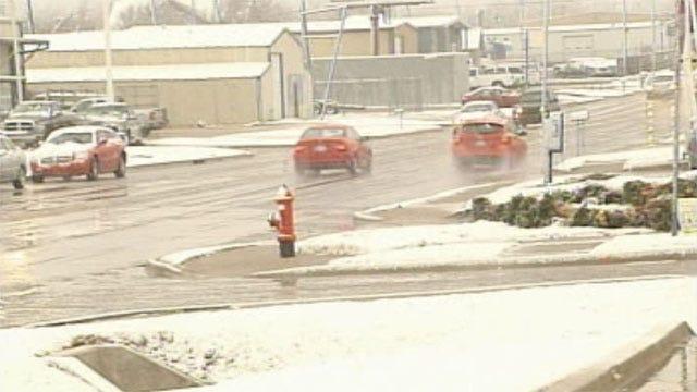 Rain, Sleet, Snow Fall Across Oklahoma