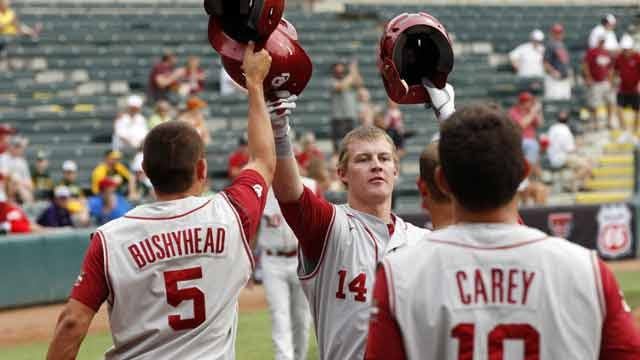 No. 14 Oklahoma Baseball Downs Iowa In Corpus Christi