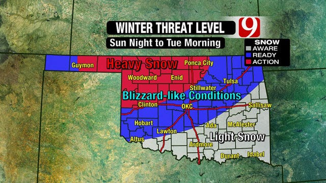Oklahoma Bracing For 'Significant' Winter Storm