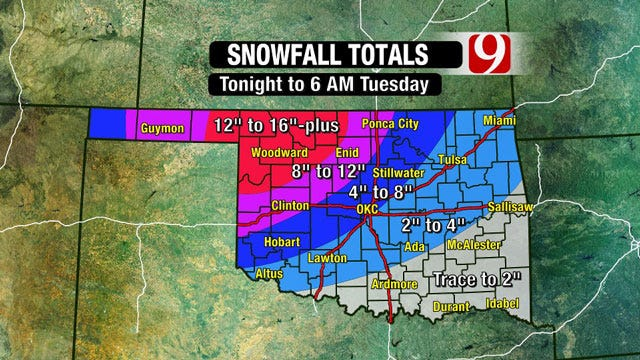 Powerful Winter Storm Moving Closer To Oklahoma