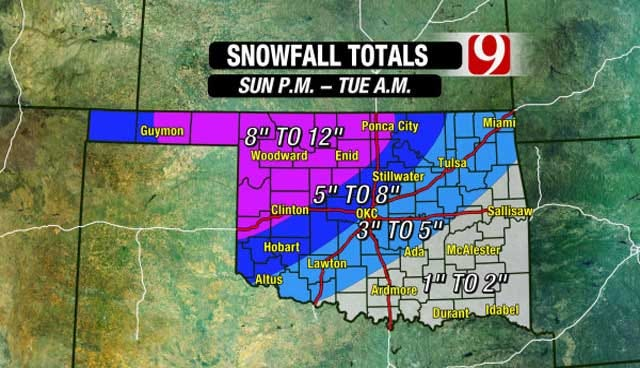 Significant Winter Storm To Impact Oklahoma Beginning Sunday Night