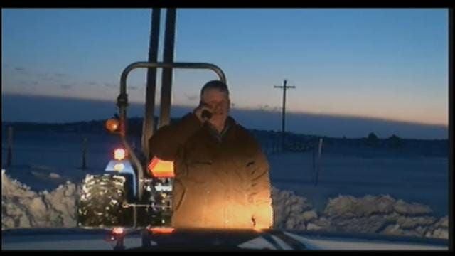 News 9 Storm Tracker Digs Out From Oklahoma Blizzard