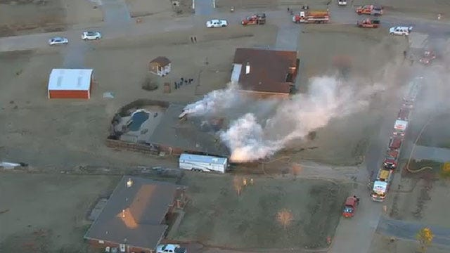 Crews Douse House Fire In Piedmont