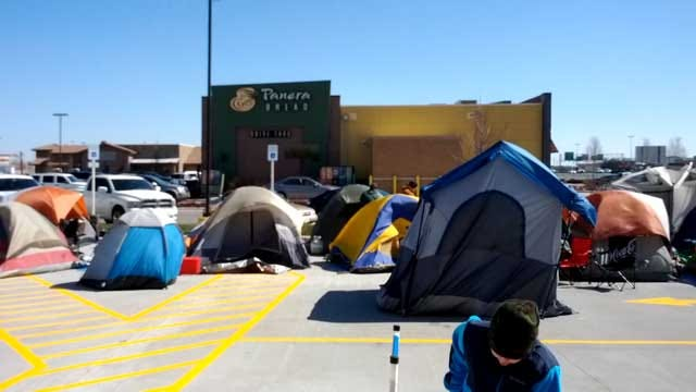 More Than A Hundred Camped Out At OKC Chick-Fil-A