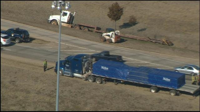 Accident, Fuel Spill Closes Parts Of I-44 In Southwest OKC