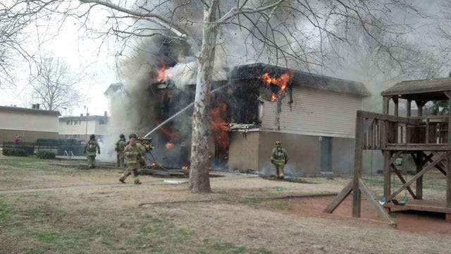 Crews Battle Apartment Fire In SE OKC