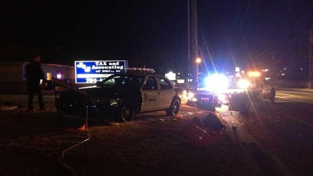 Police Officer Involved In Crash In Southwest OKC