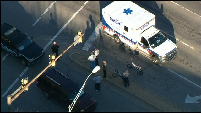 Accident In Downtown OKC Injures Pedestrian
