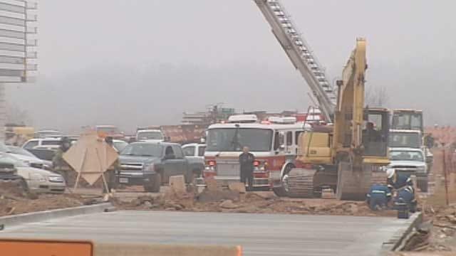 Crews Plug Cut Gas Line On Chesapeake Energy Campus In OKC