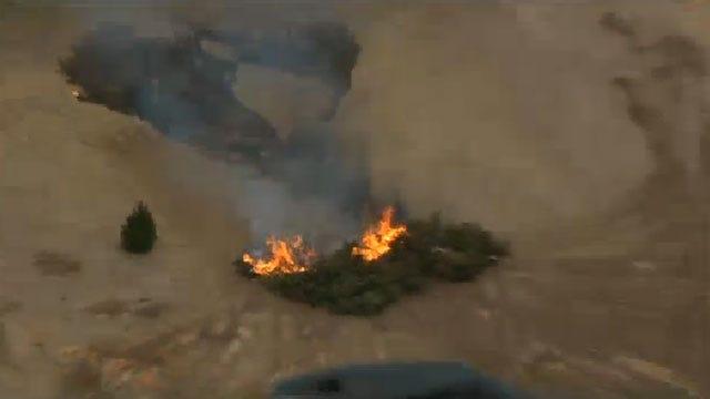 Crews Battle Grass Fire In NW OKC