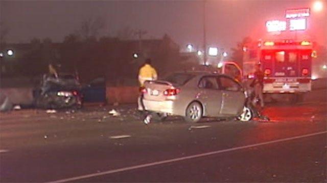 Suspects Crash Stolen Car Heading Wrong Way On I-240
