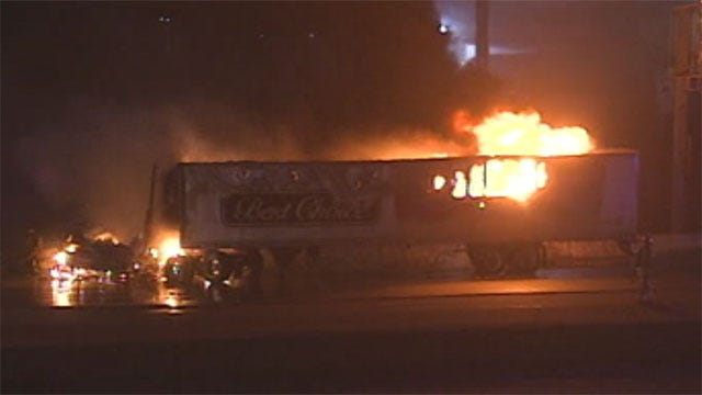 Two Lanes Reopen After Fiery, Fatal Crash On Westbound I-40 In Canadian County