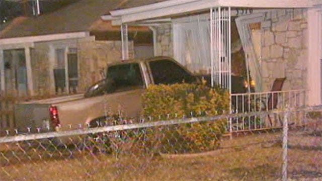Thieves Crash Stolen Truck Into SW OKC Home