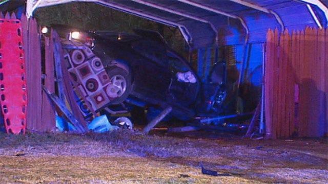 Driver Crashes Into SW OKC Garage