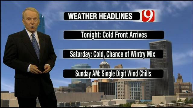 Wintry Mix Possible For OKC Metro Over Weekend