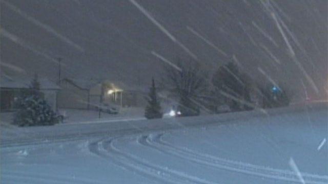 Snow, Wintery Precipitation Forecast For Oklahoma