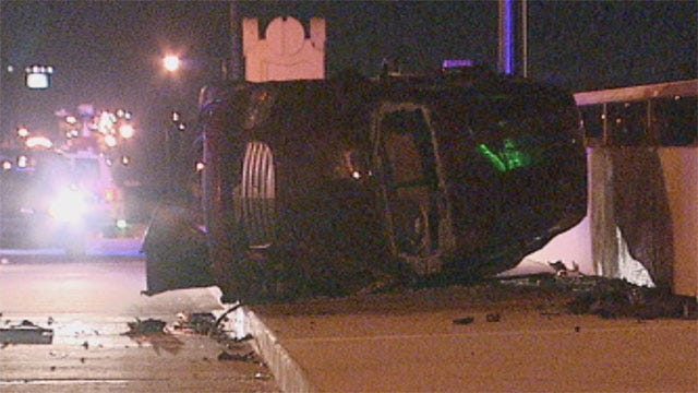 High-Speed Chase Ends With Rollover Crash In SW OKC
