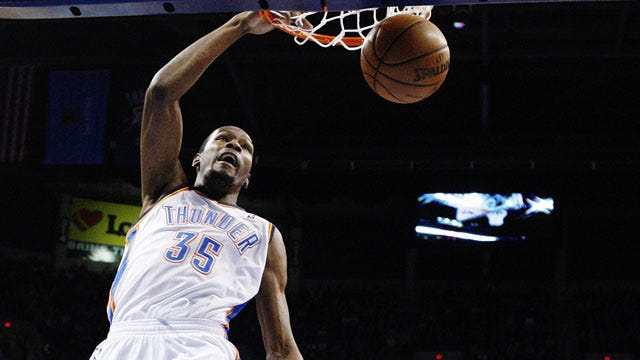 OKC's Durant Named Western Conference Player Of The Week