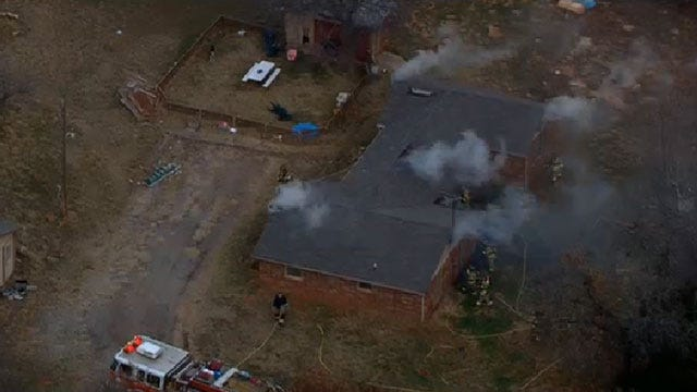Firefighters Put Out A House Fire In Southeast OKC